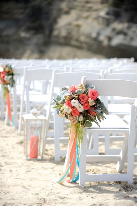 Wedding Chair Flowers With Hanging Ribbons Lanterns Down