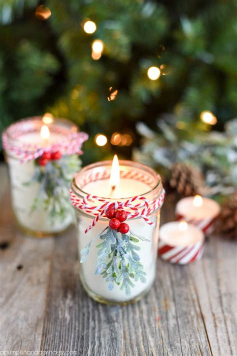 make christmas candles diy peppermint mason jar candles a pumpkin and a princess