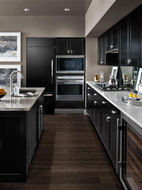 and black kitchen ideas small modern kitchen design ideas hgtv pictures tips