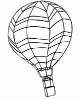 Balloon Coloring Air Pages Printable Horizontal sketch template