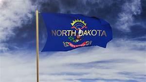 North dakota state flag Footage   Stock Clips