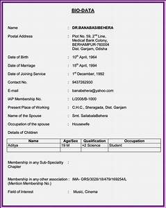 free download marriage biodata format resume template With biodata covering letter format