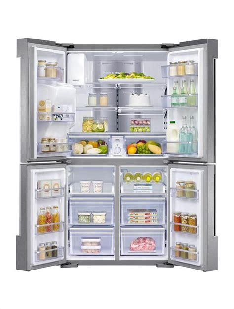 samsung  cu ft family hub  door flex french door refrigerator  stainless steel