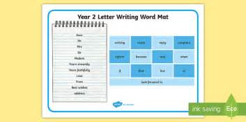 year  letter writing word mat  texts  letter