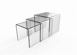 Table Basse Gigogne Verre : table basse gigogne en verre tierce table concept ~ Teatrodelosmanantiales.com Idées de Décoration