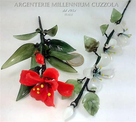 fiori in vetro bomboniere fiori vetro segnaposto comunione matrimonio