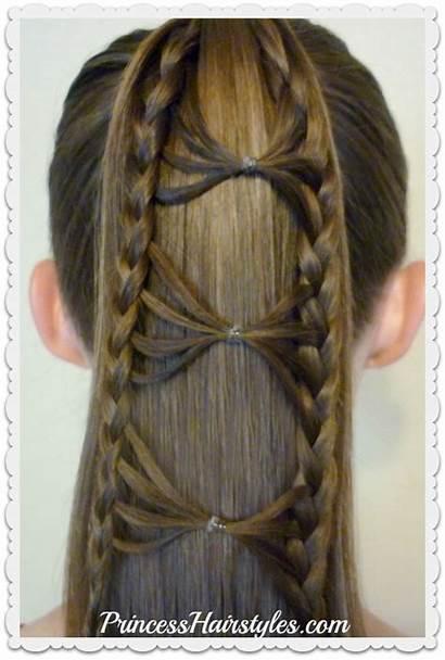 Bow Ponytail Braid Hairstyle Hair Tie Hairstyles