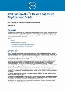 Dell Sonicwall Firewall Sandwich Deployment