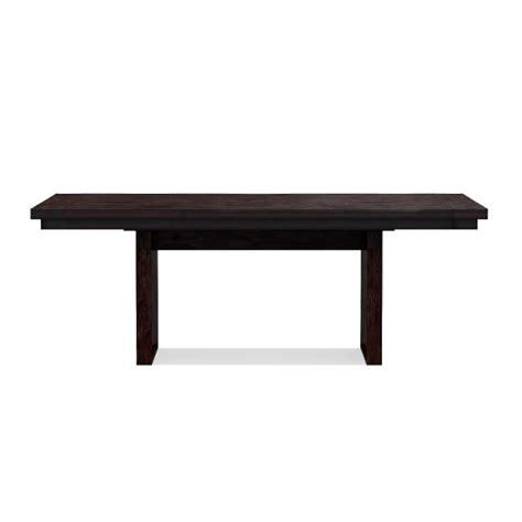 extendable rectangular dining table nassau extendable rectangular dining table williams sonoma