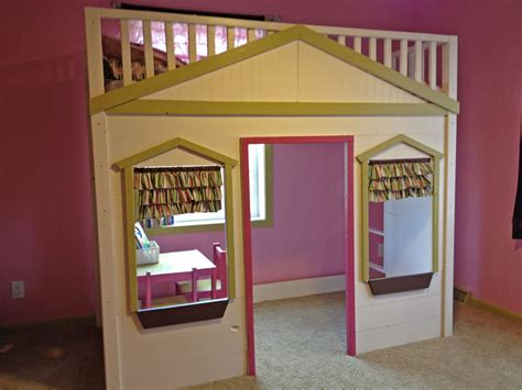 cottage loft bed white abbi s cozy cottage bed diy projects