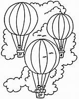 Balloon Air Coloring Printable Colouring sketch template
