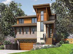 Plan, 23699jd, Three, Story, Modern, House, Plan, Designed, For