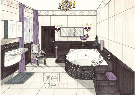 perspective salle de bain l oeil de co salle de bain zen perspective l oeil de co