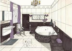 L39oeil de co salle de bain zen perspective l39oeil de co for Perspective salle de bain