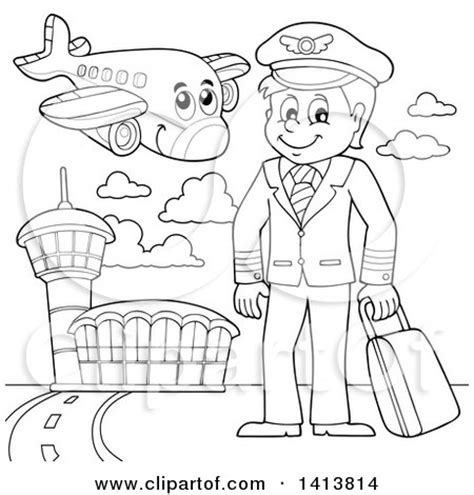 11742 pilot clipart black and white royalty free travel illustrations by visekart page 1