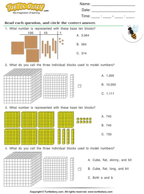 place   numbers   ten thousands worksheet turtle diary