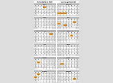 Calendário Ano 2020 Para Imprimir em Formato PDF e Imagem