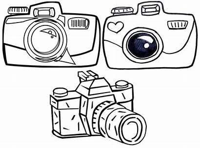 Camera Coloring Pages Sheets Cartoon