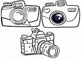 Camera Coloring Photography Pages Sheets Cartoon sketch template