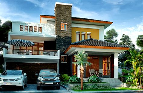 contoh bangunan rumah minimalis mewah  lantai terbaru