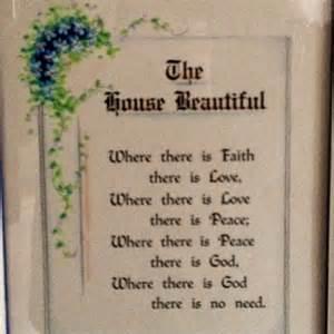 Beautiful House Poem