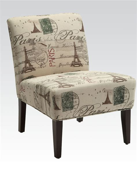 contemporary accent chair in french style by acme