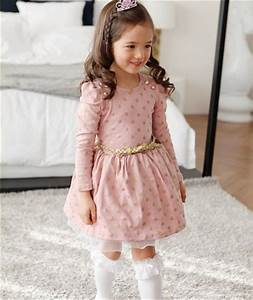 Hot 2018 Winter Autumn Baby Girl Boutique Dress Gold Polka ...