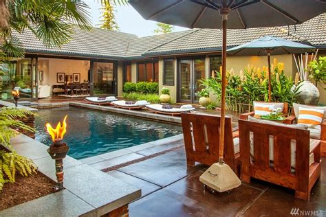 Asian Home : Tropical Southeast Asian-inspired Home Hidden In Kirkland
