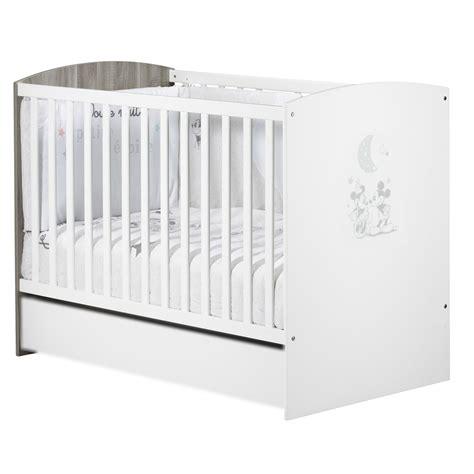 mickey lit bébé 60x120 blanc de sauthon sélection lits