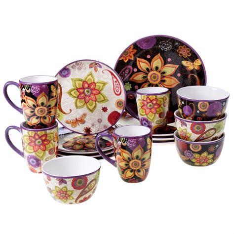 Ceramic Dinnerware Set 16 Piece Kitchen Tableware Bowl