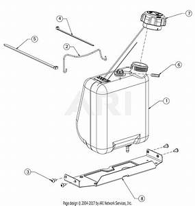Troy Bilt 13an77bs011 Pony  2017  Parts Diagram For Fuel Tank