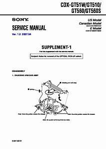 Sony Cdx-gt510  Cdx-gt51w  Cdx-gt560  Cdx-gt560s Service Manual