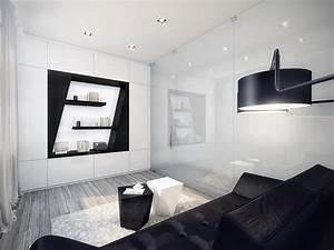 Futuristic Black and White Apartment