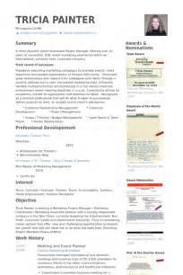 curriculum vitae event coordinator event planner resume sles visualcv resume sles database
