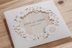 50 alexandra round floral cut out laser cut personalised With round laser cut wedding invitations