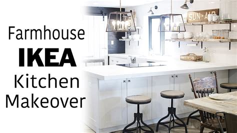 white ikea kitchen  room makeover modern farmhouse industrial design diy renovation