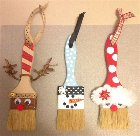 holiday paint brushes holiday ideas xmas crafts