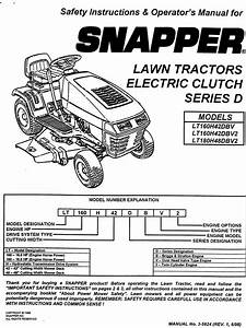 Snapper Lt160h42dbv User Manual Tractor Manuals And Guides