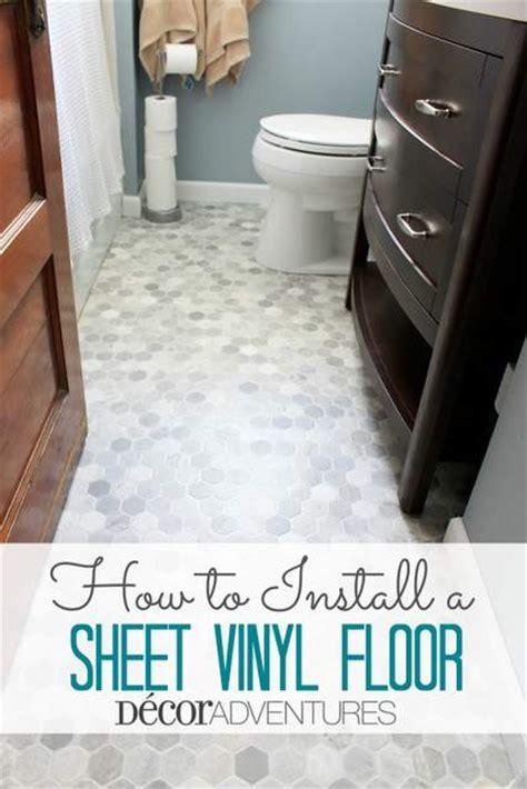 install bathroom floor how to install a sheet vinyl floor hometalk