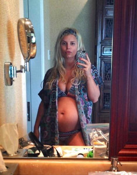 jessica simpson bikini photo   day naked baby bump alert  hollywood gossip