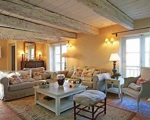 Salon Classique Chic : deco maison de campagne cosy ~ Dallasstarsshop.com Idées de Décoration