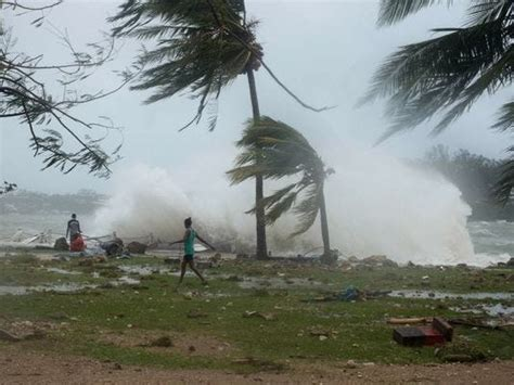 vanuatu takes direct hit  cyclone pam possibly worst