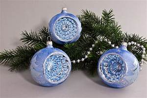 Weihnachtskugeln Glas Lauscha : 3 reflexkugeln 8 cm eisblau silberne tanne onlineshop ~ A.2002-acura-tl-radio.info Haus und Dekorationen