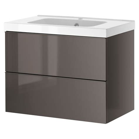 bathroom sink godmorgon odensvik sink cabinet with 2 drawers gray