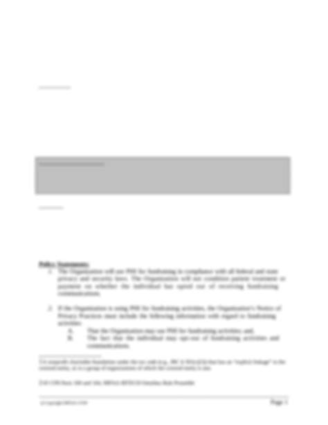 HCR-Fundraising-Policy-4.6.14.doc - DRAFT Version 2 FINAL Based on Final Privacy Rule HITECH and