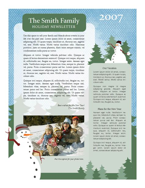 holiday newsletter 7 useful cards cards ready made office templates