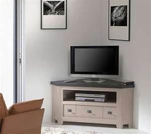 Petit Meuble Tele : meuble tv d 39 angle whitney vazard ~ Teatrodelosmanantiales.com Idées de Décoration