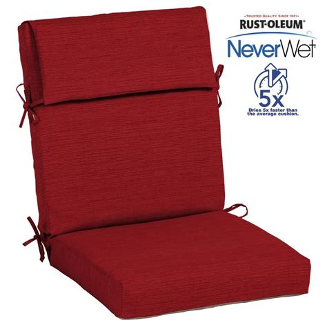 allen and roth patio cushions shop allen roth neverwet 1 high back patio chair