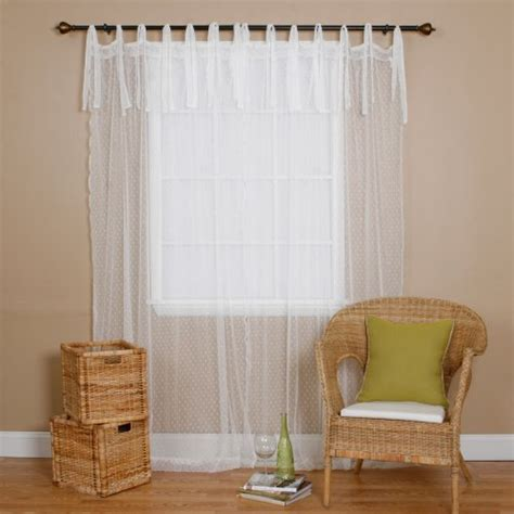 best home fashion swiss dot lace curtains tie top