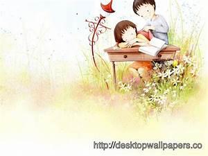 Wallpaper Love Couple Cute Cartoon - Desktop Wallpapers ...